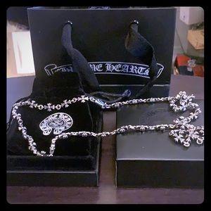 Chrome Hearts Cemetery Cross Necklace Set